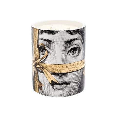 金緞帶禮物女伶香氛蠟燭